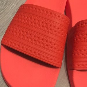 adidas Shoes - Adidas Adilette Slides - solar red
